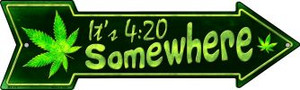 Its 4:20 Somewhere Wholesale Novelty Mini Metal Arrow MA-318