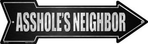 Asshole's Neighbor Wholesale Novelty Mini Metal Arrow MA-344