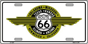 Route 66 Shield Emblem Novelty Wholesale Metal License Plate