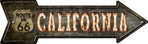 California Route 66 Bulb Letters Wholesale Novelty Mini Metal Arrow MA-423