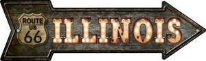 Illinois Route 66 Bulb Letters Wholesale Novelty Mini Metal Arrow MA-430