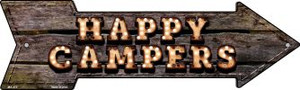 Happy Campers Bulb Letters Wholesale Novelty Mini Metal Arrow MA-472