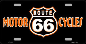 Route 66 Motorcycles Novelty Wholesale Metal License Plate