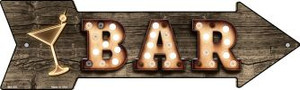 Bar With Cocktail Bulb Letters Wholesale Novelty Mini Metal Arrow MA-500