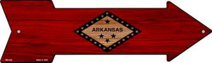 Arkansas State Flag Wholesale Novelty Mini Metal Arrow MA-525