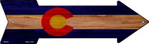 Colorado State Flag Wholesale Novelty Mini Metal Arrow MA-527