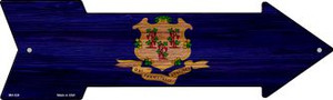 Connecticut State Flag Wholesale Novelty Mini Metal Arrow MA-528