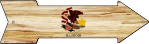 Illinois State Flag Wholesale Novelty Mini Metal Arrow MA-534