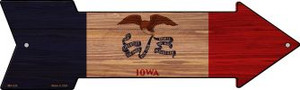 Iowa State Flag Wholesale Novelty Mini Metal Arrow MA-536