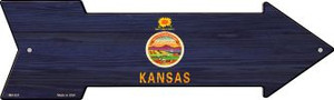 Kansas State Flag Wholesale Novelty Mini Metal Arrow MA-537