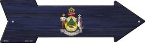 Maine State Flag Wholesale Novelty Mini Metal Arrow MA-540
