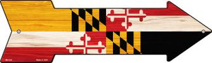 Maryland State Flag Wholesale Novelty Mini Metal Arrow MA-541