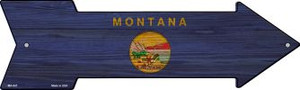 Montana State Flag Wholesale Novelty Mini Metal Arrow MA-547