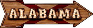 Alabama Bulb Lettering Wholesale Novelty Mini Metal Arrow MA-581