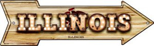 Illinois Bulb Lettering Wholesale Novelty Mini Metal Arrow MA-593