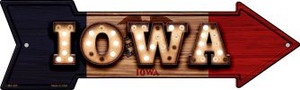 Iowa Bulb Lettering Wholesale Novelty Mini Metal Arrow MA-595