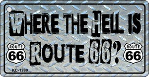 Where Is Route 66 Novelty Wholesale Metal License Plate