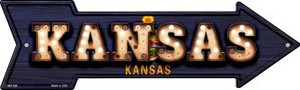 Kansas Bulb Lettering Wholesale Novelty Mini Metal Arrow MA-596