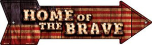 Home of the Brave Bulb Letters Wholesale Novelty Mini Metal Arrow MA-639