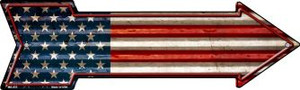 American Flag Corrugated Wholesale Novelty Mini Metal Arrow