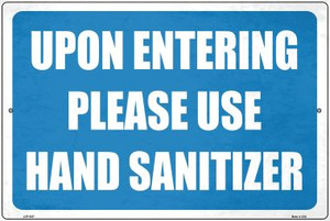 Please Use Hand Sanitizer Wholesale Novelty Metal Large Parking Sign LGP-2837