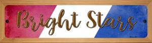 Bright Stars Wholesale Novelty Wood Mounted Small Metal Street Sign WB-K-1412