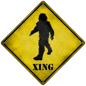 Bigfoot Xing Wholesale Novelty Mini Metal Crossing Sign MCX-018