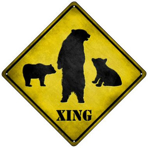Bears Xing Wholesale Novelty Mini Metal Crossing Sign MCX-023
