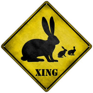 Rabbit Xing Wholesale Novelty Mini Metal Crossing Sign MCX-032