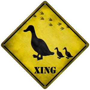 Ducks Xing Wholesale Novelty Mini Metal Crossing Sign MCX-035