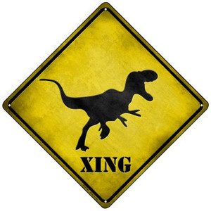 T-Rex Xing Wholesale Novelty Mini Metal Crossing Sign MCX-047