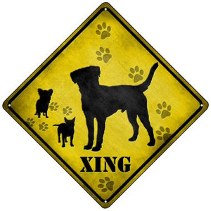 Dogs Xing Wholesale Novelty Mini Metal Crossing Sign MCX-062