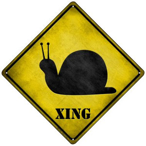 Snail Xing Wholesale Novelty Mini Metal Crossing Sign