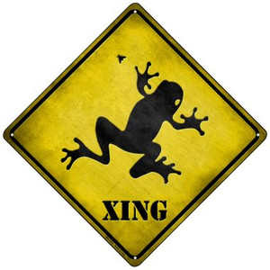 Frog Xing Wholesale Novelty Mini Metal Crossing Sign MCX-072