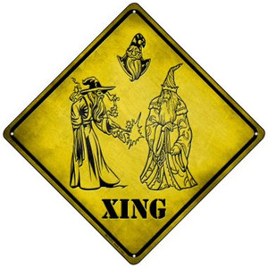 Wizards Xing Wholesale Novelty Mini Metal Crossing Sign MCX-073