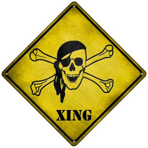 Pirate Xing Wholesale Novelty Mini Metal Crossing Sign MCX-078