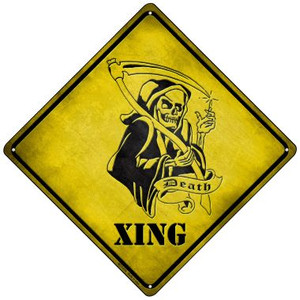 Grim Reaper Xing Wholesale Novelty Mini Metal Crossing Sign MCX-079