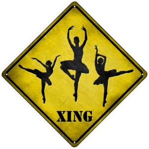 Ballerina Xing Wholesale Novelty Mini Metal Crossing Sign MCX-081