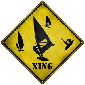Board Sailer Xing Wholesale Novelty Mini Metal Crossing Sign MCX-091