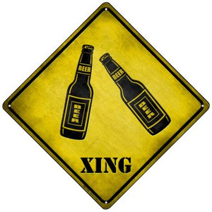Beer Xing Wholesale Novelty Mini Metal Crossing Sign MCX-106