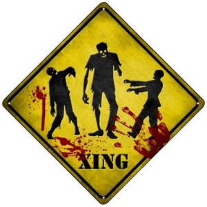 Zombies Xing Wholesale Novelty Mini Metal Crossing Sign MCX-107