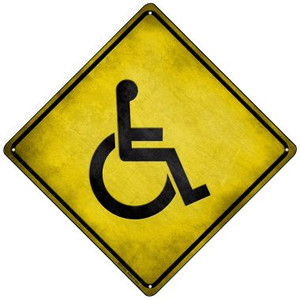 Handicap Wholesale Novelty Mini Metal Crossing Sign MCX-110