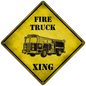 Fire Truck Xing Wholesale Novelty Mini Metal Crossing Sign MCX-113