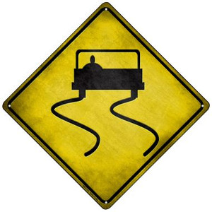 Slippery Road Wholesale Novelty Mini Metal Crossing Sign MCX-116