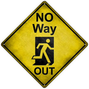 No Way Out Wholesale Novelty Mini Metal Crossing Sign MCX-119