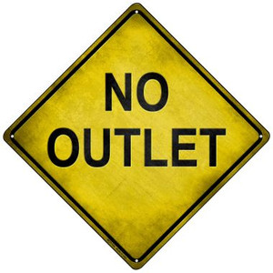 No Outlet Wholesale Novelty Mini Metal Crossing Sign MCX-120