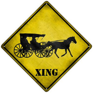 Carriage Xing Wholesale Novelty Mini Metal Crossing Sign MCX-124