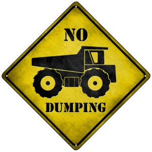 No Dumping Wholesale Novelty Mini Metal Crossing Sign MCX-127