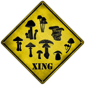 Mushrooms Xing Wholesale Novelty Mini Metal Crossing Sign MCX-132