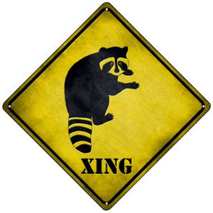 Raccoon Xing Wholesale Novelty Mini Metal Crossing Sign MCX-133